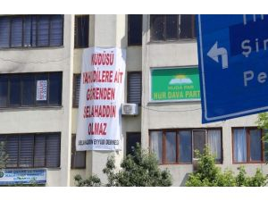 Siirt'te İlginç Pankart