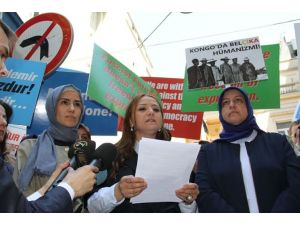 Sümeyye Erdoğan Belçika Protestosuna Katıldı