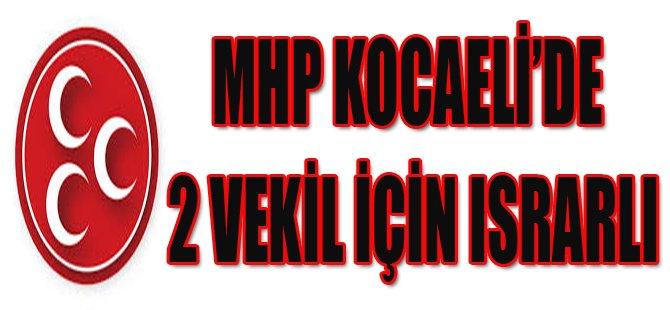 MHP Kocaeli'de 2 Vekil İçin Israrlı
