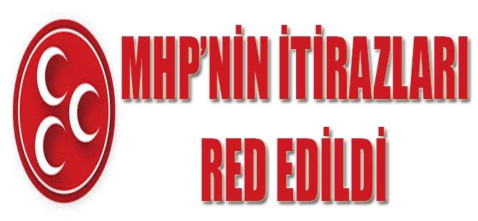 MHP'nin İtirazları Red Edildi