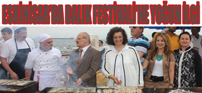 Eskihisar'da Balık Festivaline Yoğun İlgi