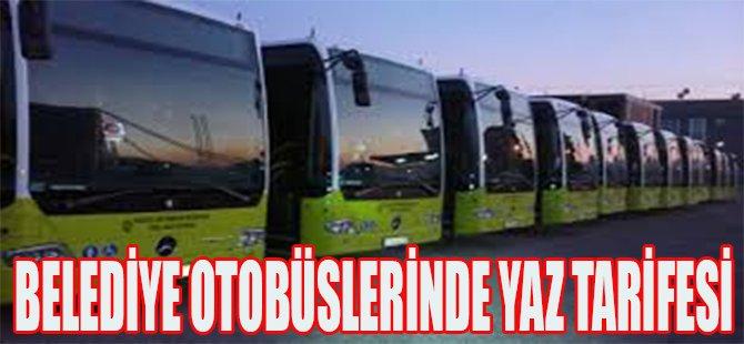 Belediye Otobüslerinde Yaz Tarifesi