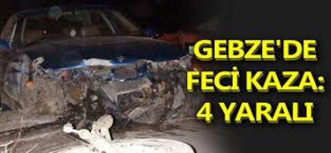 Gebze'de Feci Kaza, 4 Yaralı