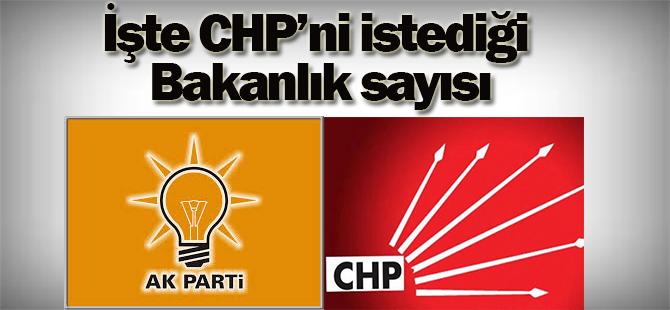 CHP'nin istediği bakanlık sayısı 14
