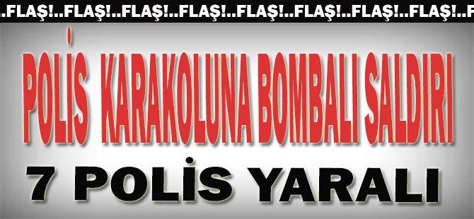 Polis Karakoluna Bombalı Saldırı 7 Polis Yaralı
