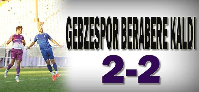 Gebzespor ,3 Lig takımı ile berabere kaldı 2-2
