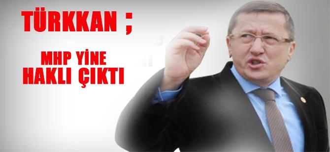 Lütfü Türkkan Mhp Yine Haklı Çıktı