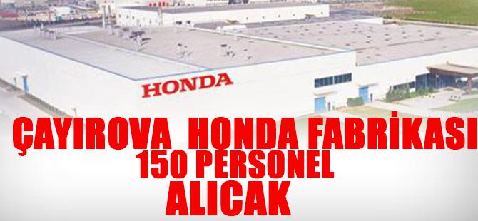 Çayırova Honda 150 Personel Alıcak