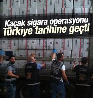 Türkiye Tarihinin En Büyük Kaçak Sigara Operasyonu