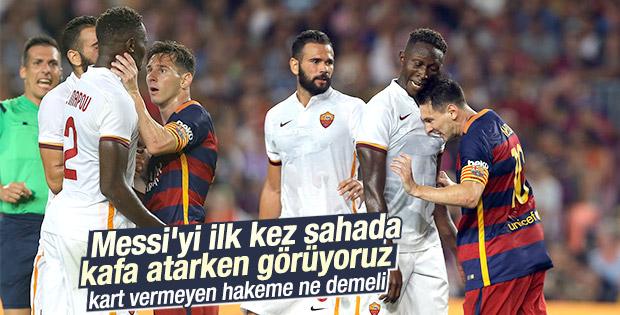 Messi Rakibine Kafa Attı O Görüntüler