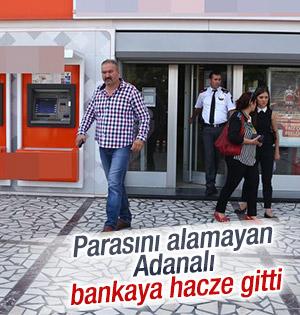 Osmaniyede Bankaya Haciz