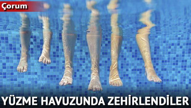 Yüzme Havuzunda Zehirlendiler