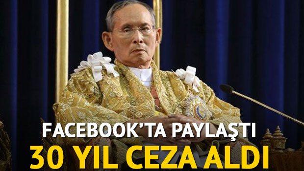Facebookta paylaştı 30 Yıl Hapis Cezası Aldı