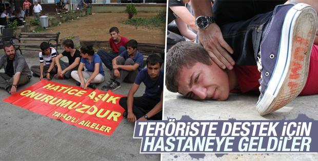 Yaralı Terörist İçin Pankart Açtılar