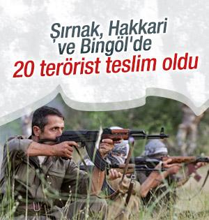 20 Terörist Teslim Oldu