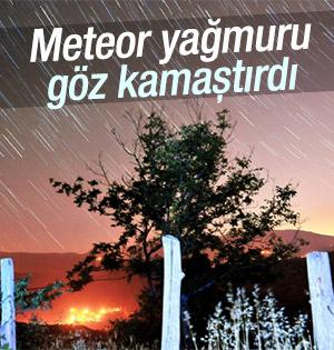 Meteor yağmurları çıplak gözle izlendi
