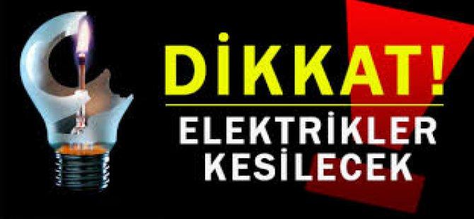 Dikkat! Elektrikler Kesilecek