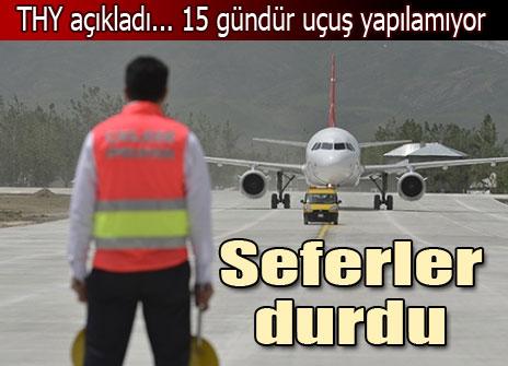 Havalimanı kullanılamaz halde