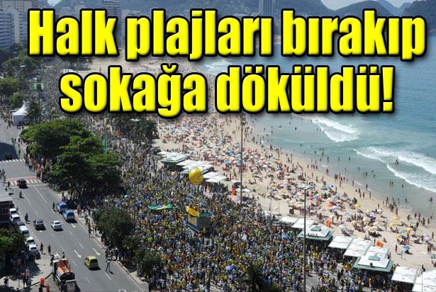 Brezilyada dev  yolsuzluk protestosu
