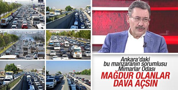 Ankara bulvarı kapandı trafik çilesi başladı