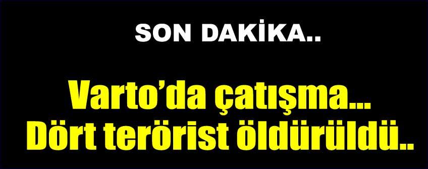 Varto'da 4 terörist ölü ele geçirildi