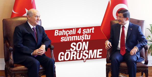 AKP MHP Koalisyon görüşmesi başladı