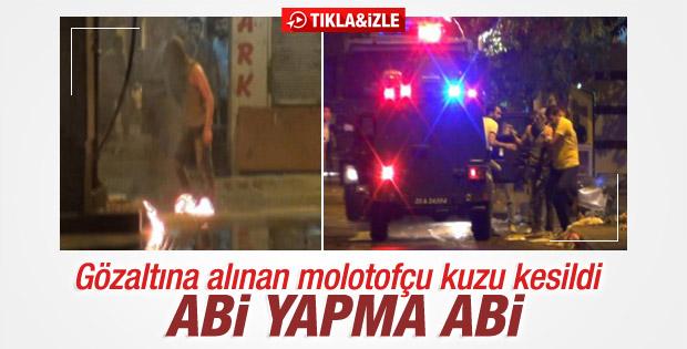 Molotof atan eylemci yakalandı