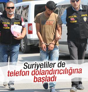 Telefon dolandırıcılığı yapan 3 Suriyeli yakalandı