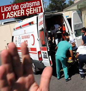 Diyarbakır Lice'de 1 asker şehit oldu