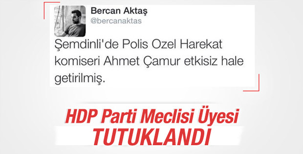 HDP'li meclis üyesi tutuklandı