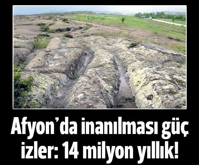 14 Milyon yıllık izler