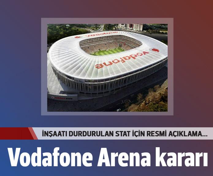 Vodafone Arenada Çalışmalar Devam Edicek