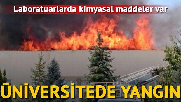 Üniversitede korkutan yangın