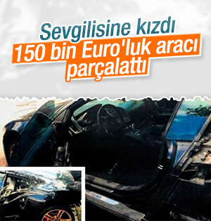 150 Bİn Euroluk Aracı parçalattı