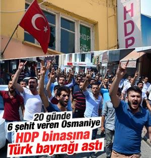 HDP İl binasını basıp bayrak astılar