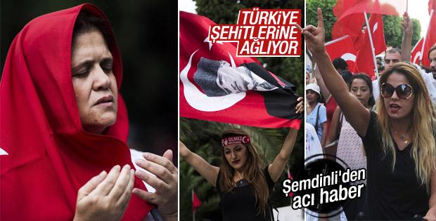 Türkiye'nin dört bir yanında şehitler için yürüdüler