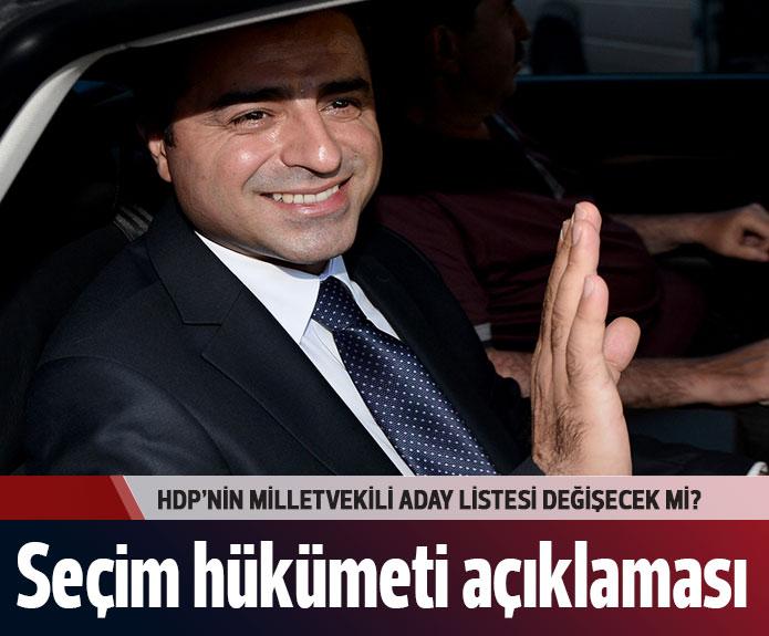 HDP Seçim hükümeti açıklaması