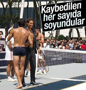Tenis maçında ilginç anlar