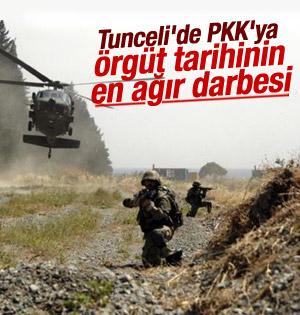 PKK Tunceli'de tarihinin en büyük darbesini yedi