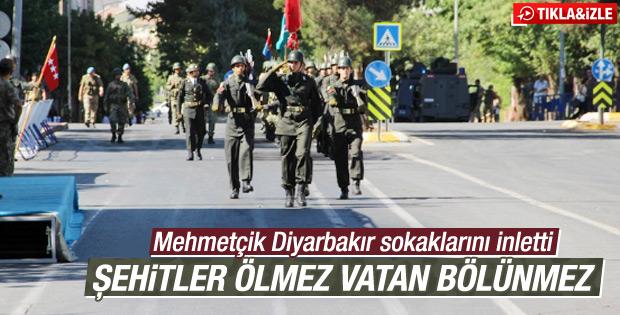 Diyarbakırda 30 Ağustos Zafer Bayramı Provaları