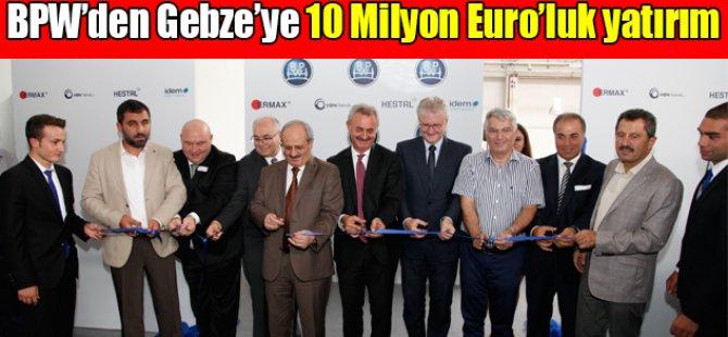 10 Milyon Euro'luk yatırım