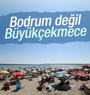 Büyükçekmece sahili Bodrum'u aratmıyor