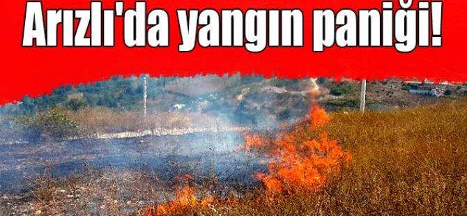 Arızlı'da yangın paniği!