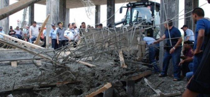 Antalya'da otel inşaatında göçük