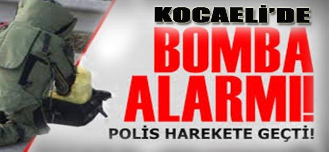 Kocaeli'de Bomba Alarmı!