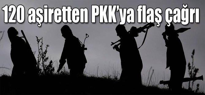 120 Aşiretten PKK'ya Flaş Çağrı!