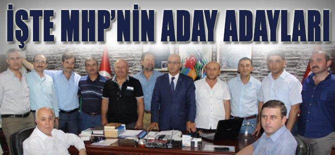 İşte MHP'nin Aday Adayları