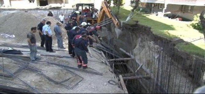 Beylikdüzü'nde göçük: 1 işçi toprak altında