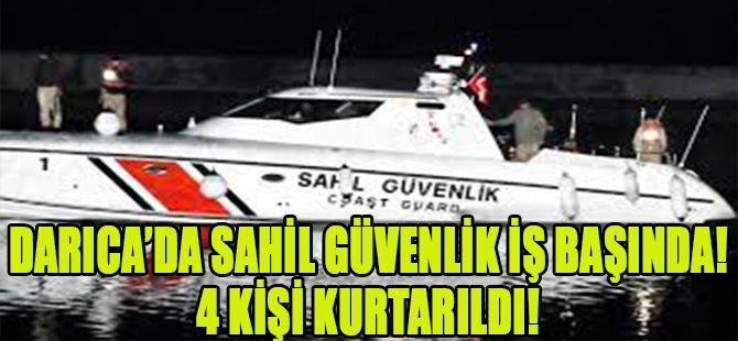 Darıca'da Sahil Güvenlik İş Başında! 4 Kişi Kurtarıldı!