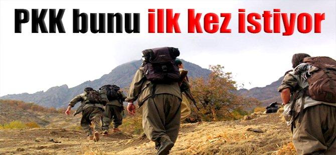 PKK Bunu İlk Kez İstiyor!